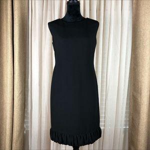 Talbots little Black dress. Hemline ruffle